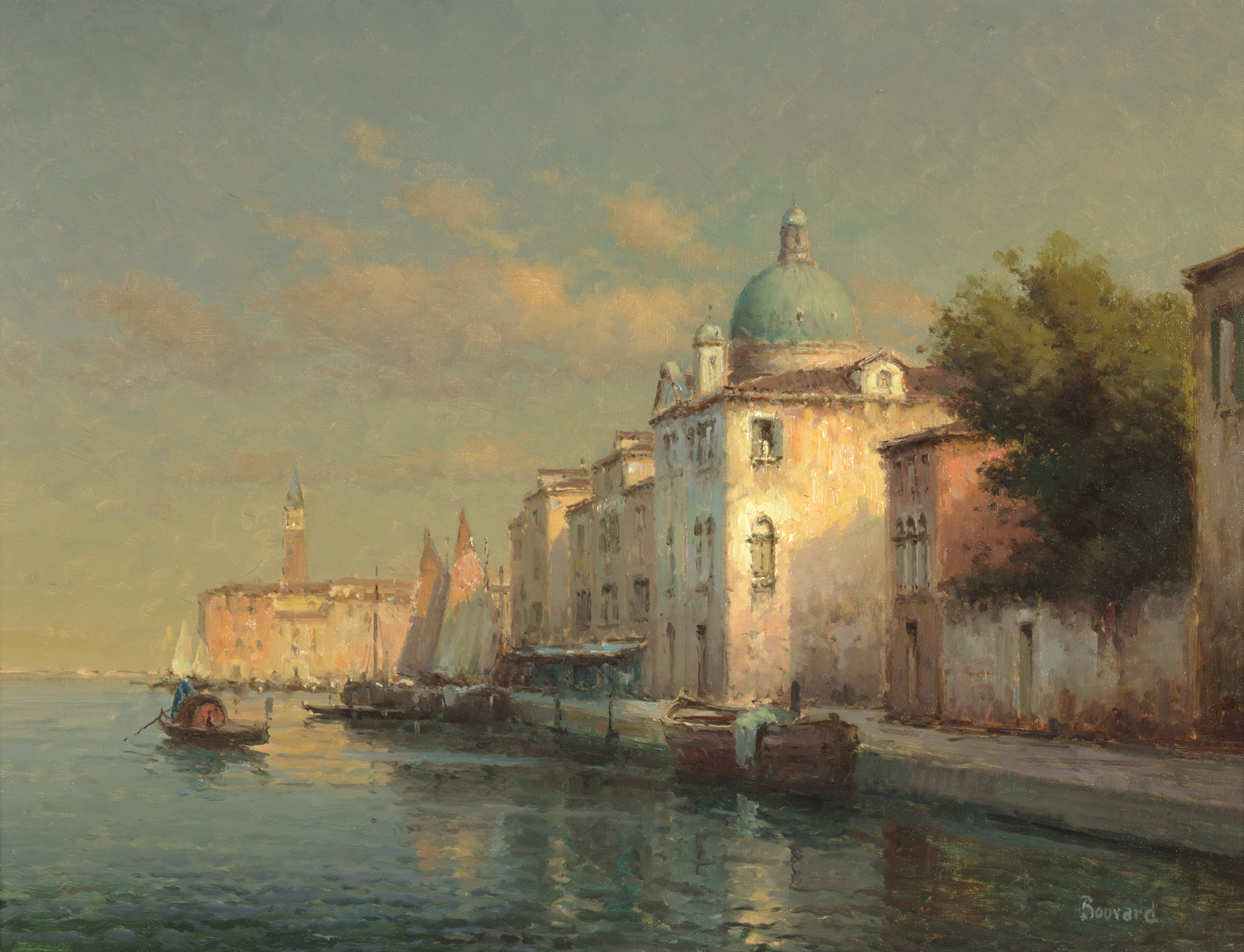 Antoine Bouvard (French 1913-1972) From the Lagoon