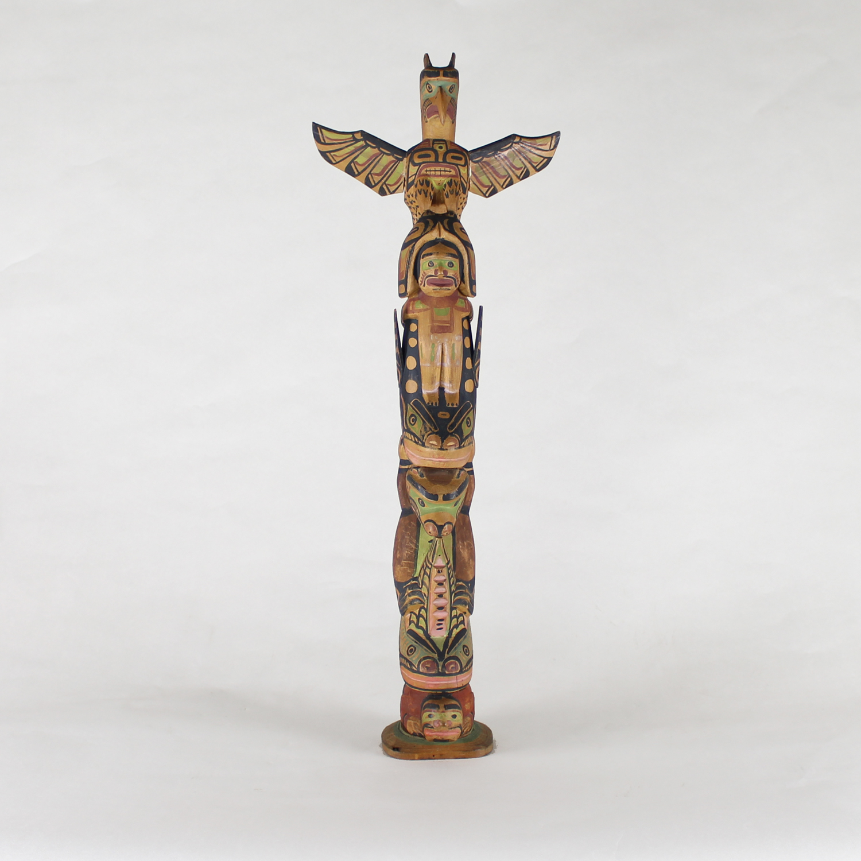 Charlie James (Yakuglas) (Kwakwaka'wakw (Kwakiutl) Circa 1870-1938) Totem