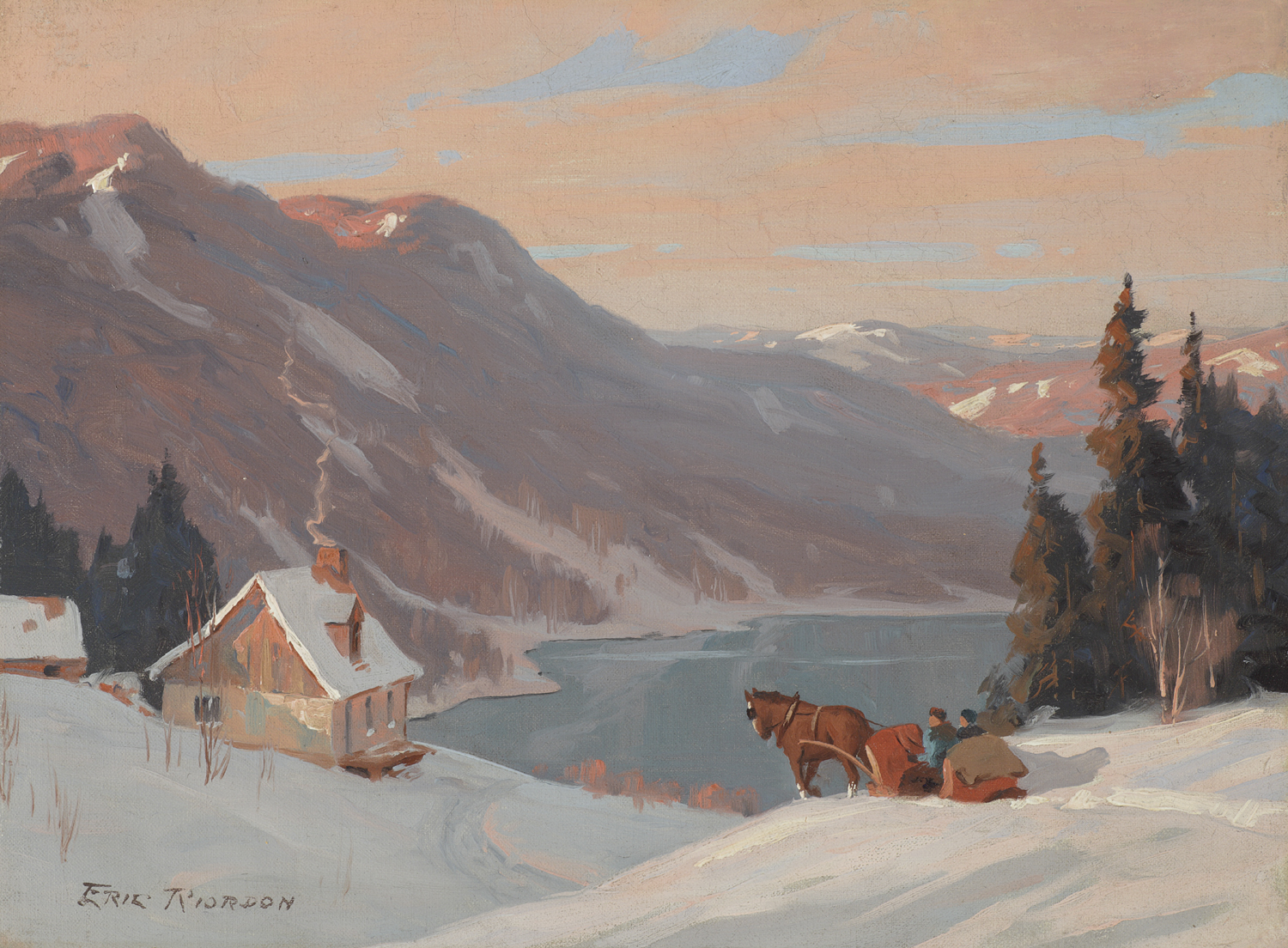 Eric Riordon (Canadian 1906-1948) The Road Home