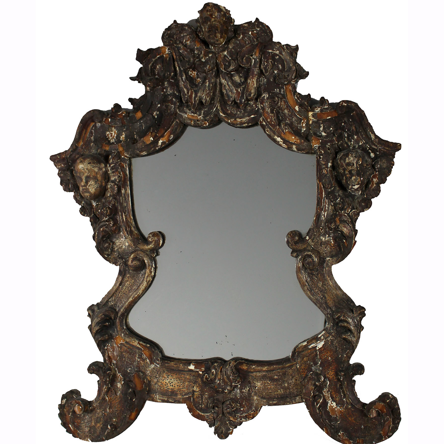 Carved and Gessoed Mirror, 19th Century