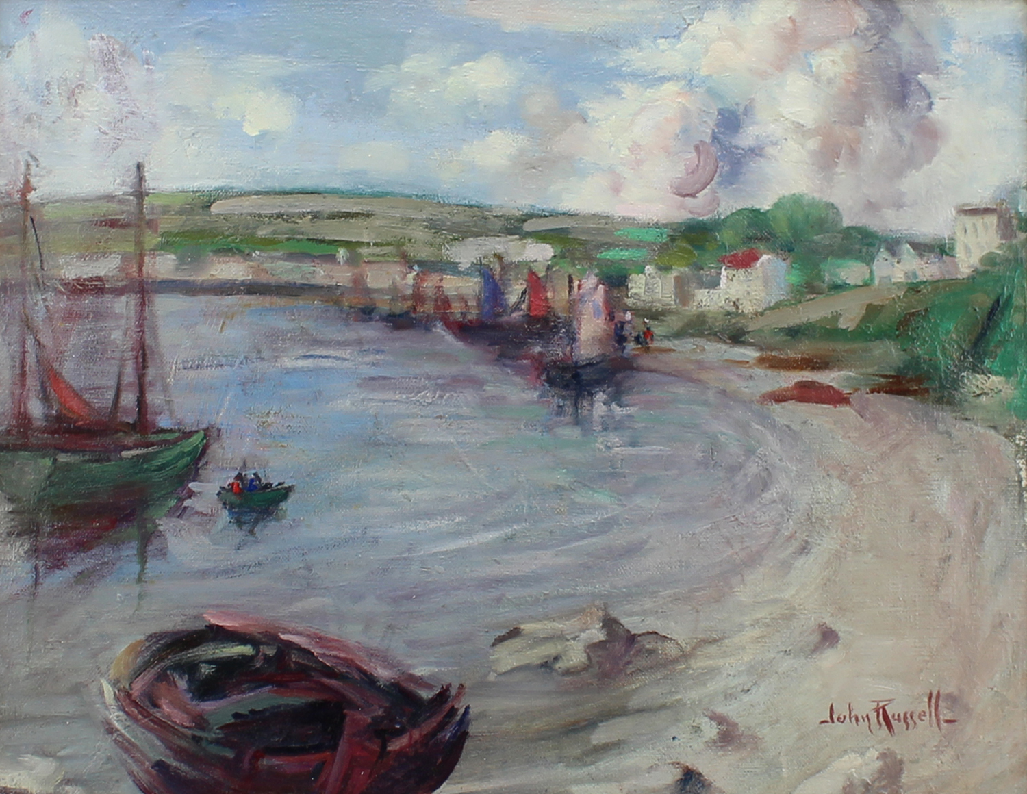 John Wentworth Russell (Canadian 1879-1959) Boats in Harbour