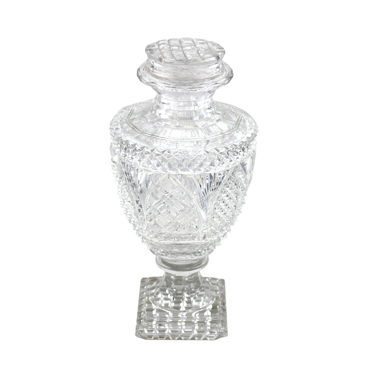 Scottish Lidded Glass Comport, 19th Century