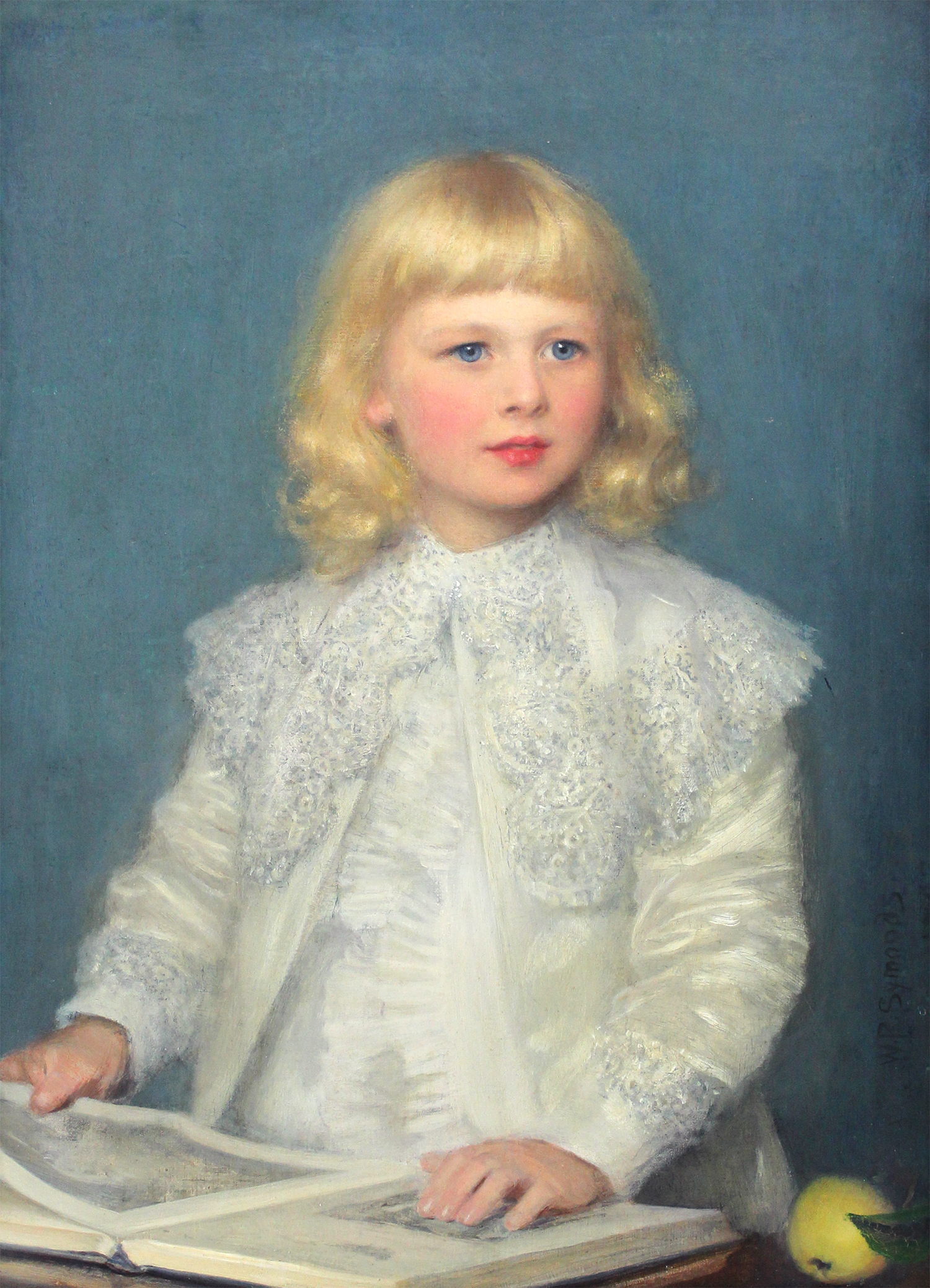 William Roberts Symonds (British 1851-1934) Portrait of Guy Lutwyche as a Young Boy
