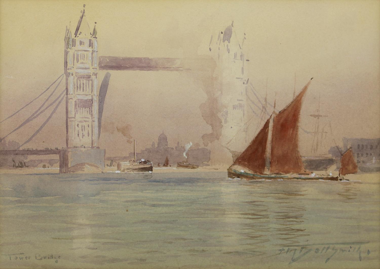 Frederic Marlett Bell-Smith (Canadian 1846-1923) Tower Bridge