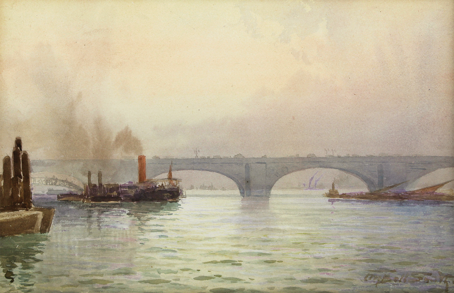 Frederic Marlett Bell-Smith (Canadian 1846-1923) On the Thames
