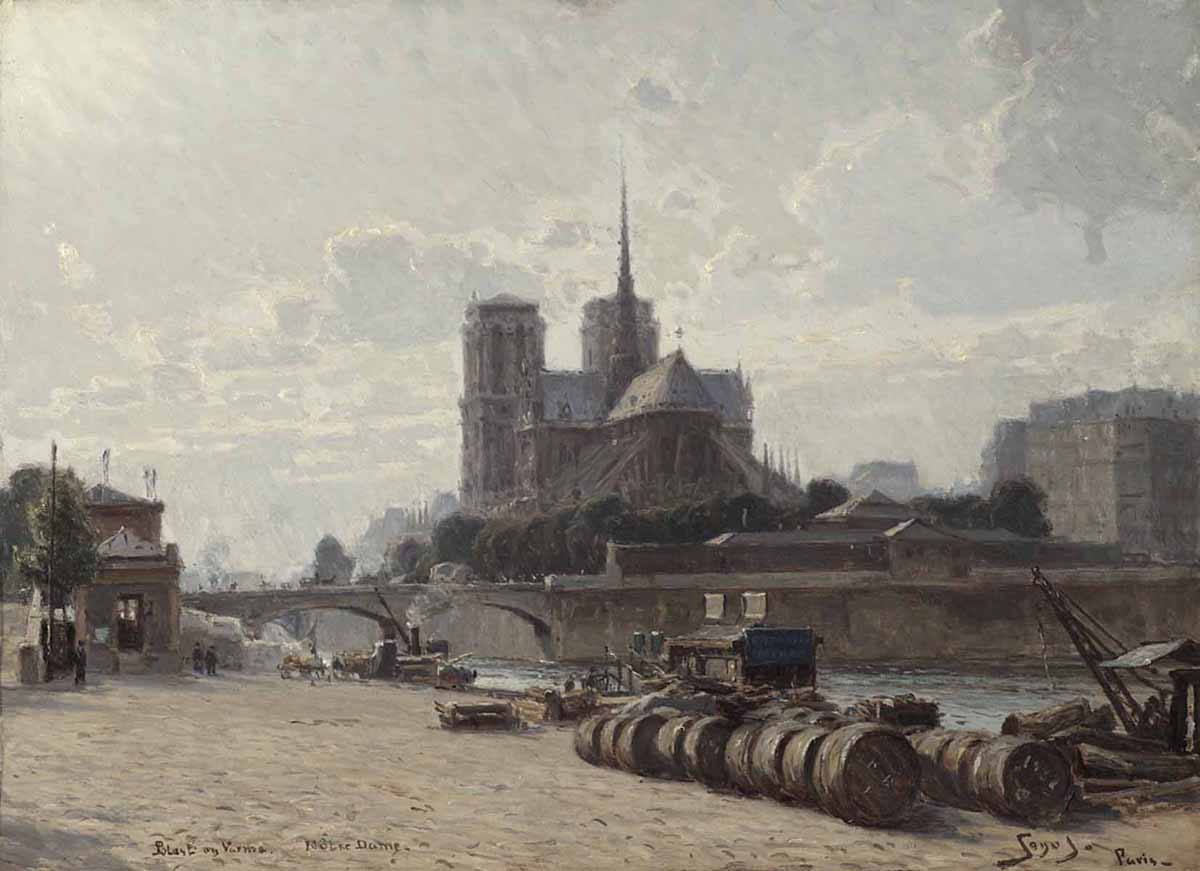 Carl Martin Soya-Jensen (Danish 1860-1912) 'Wind and Heat, Notre Dame'