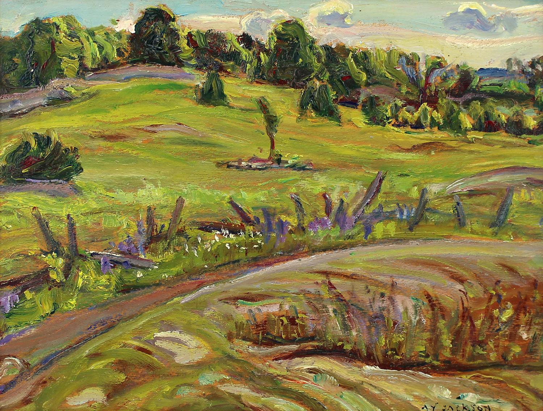 Alexander Y. Jackson (Canadian 1882-1974)Pasture Fields Maddoc, Ontario