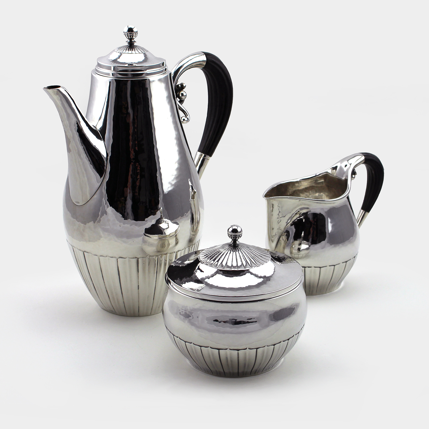 Georg Jensen (Danish 1866-1935) Cosmos 3 Piece Coffee Service
