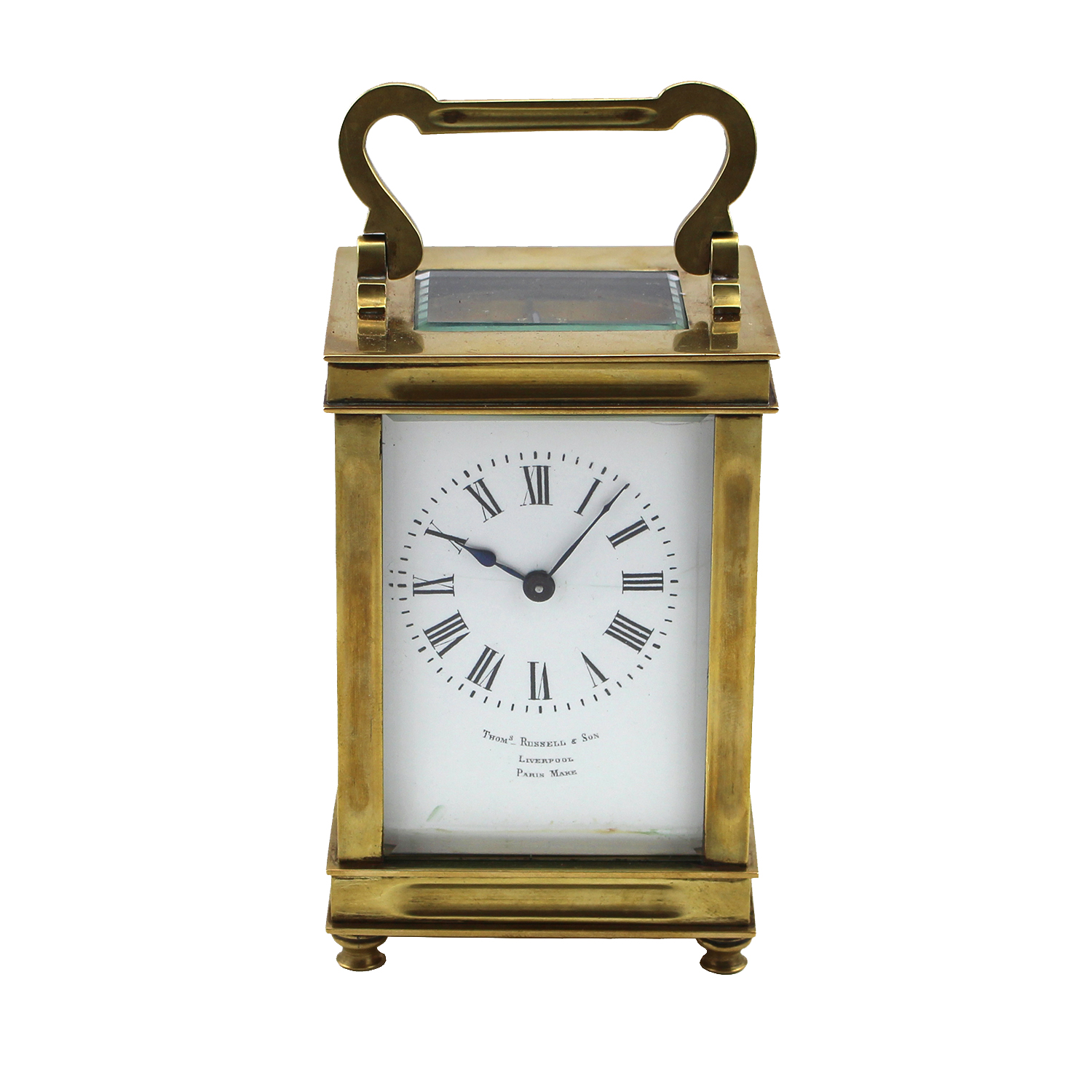 French Brass Carriage Clock, Circa 1870
