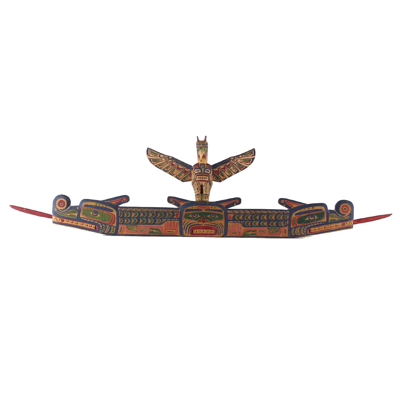 Charlie James (Yakuglas) (Kwakwaka'wakw (Kwakiutl) Door Carving, Circa 1870-1938