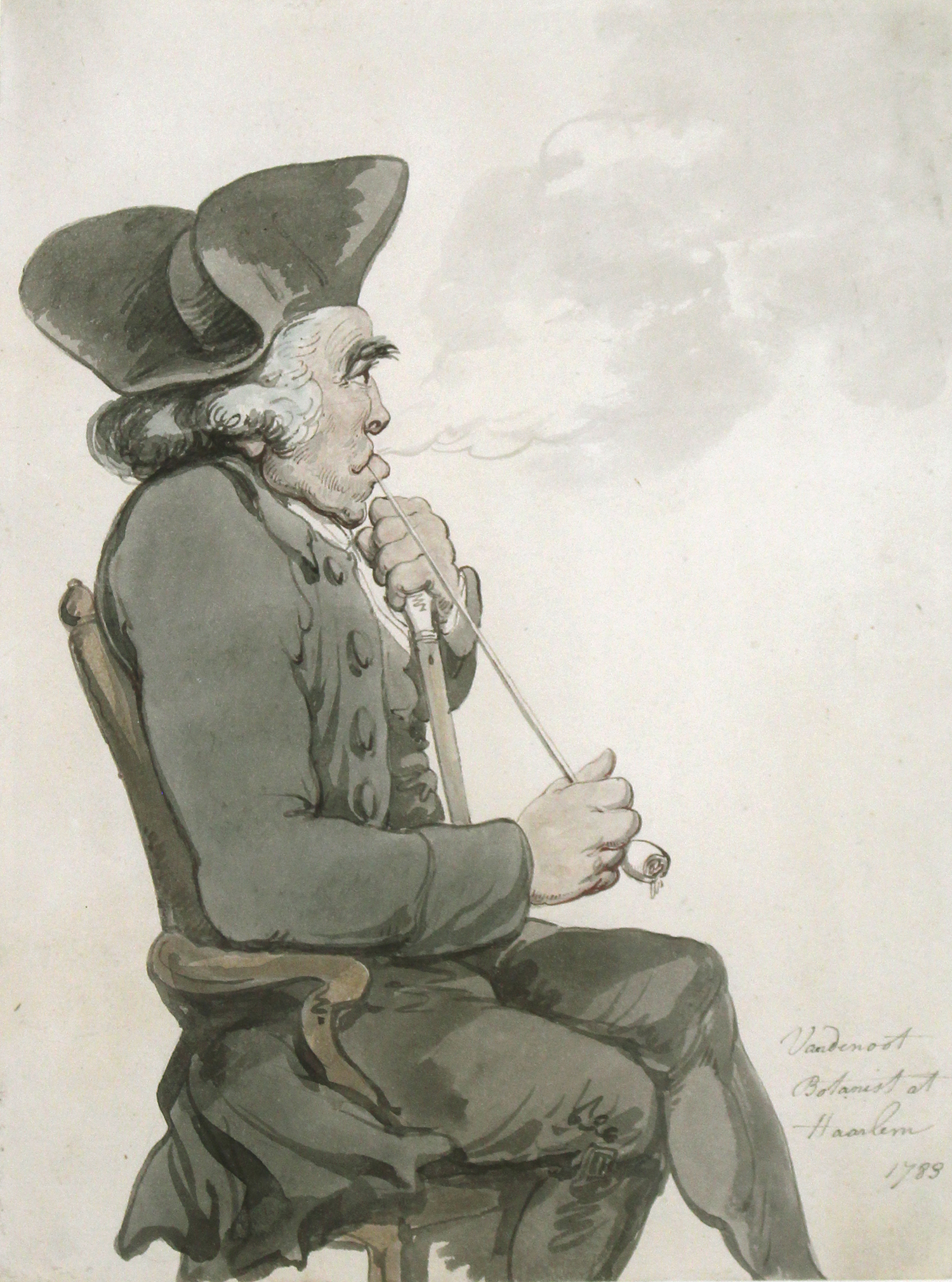 Thomas Rowlandson (British 1756-1827 )  A Study of Herren Van Den Noot, the Botanist