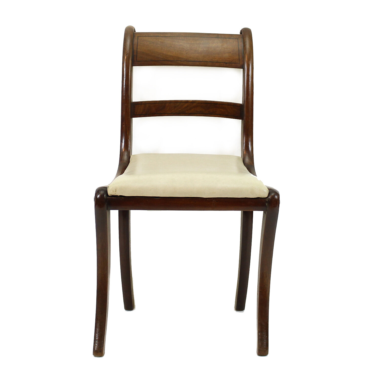Set of Six Georgian Mahogany Dining Chairs, Circa 1820