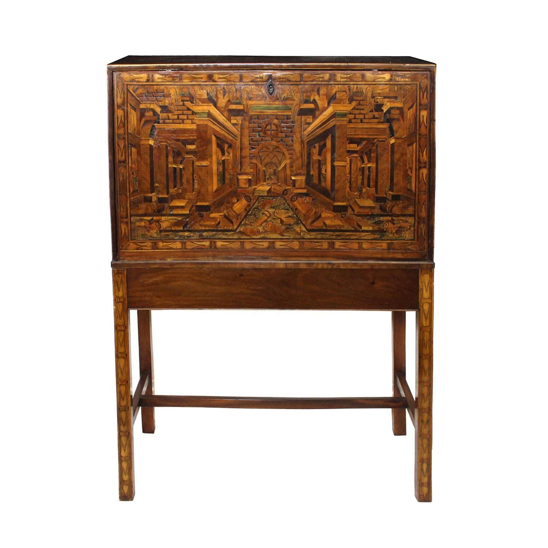 Augsburg Table Cabinet, German 17/18th Century