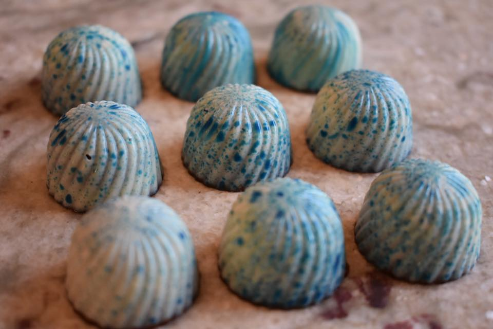 Blue Salted Caramels are one of the latest range of chocolates from tiers of joy.