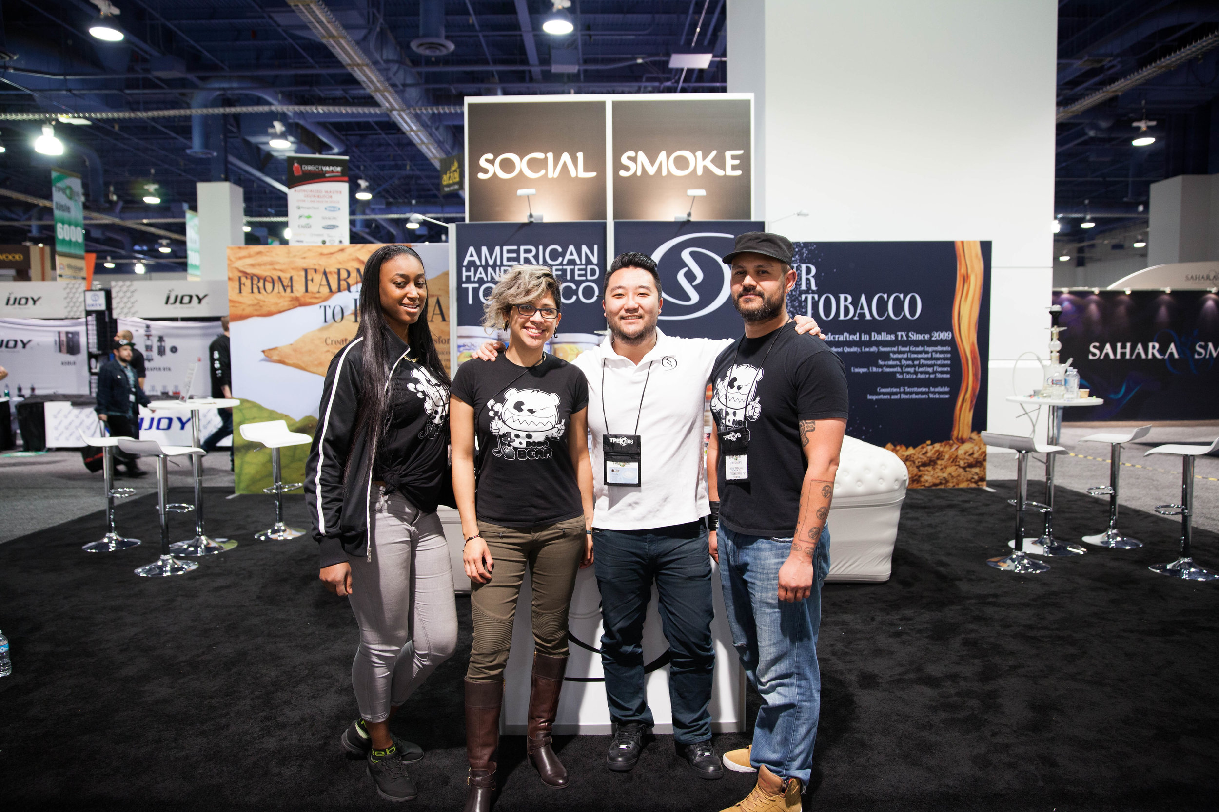 Teddy and Boba Bear Staff working with Social Smoke at the 2016 TPE Show in Las Vegas