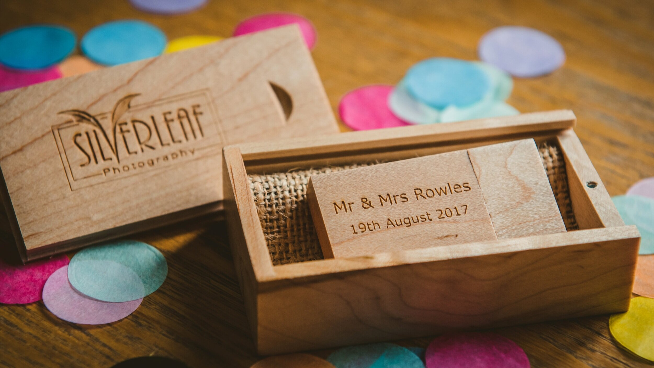 Yours to keep   Your images come on a personalised USB memory stick and you can print and share them to your heart's content. If you've had a pre-wedding shoot, those files will also be included.