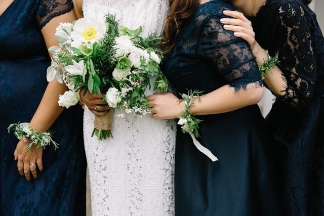bride and bridesmaid bouquet and wrist corsages.jpg