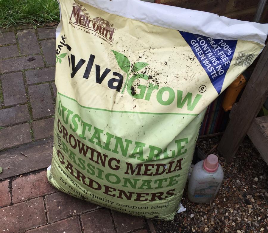 My favourite compost, and the recycled Ecover bottle has worm leachate in it.