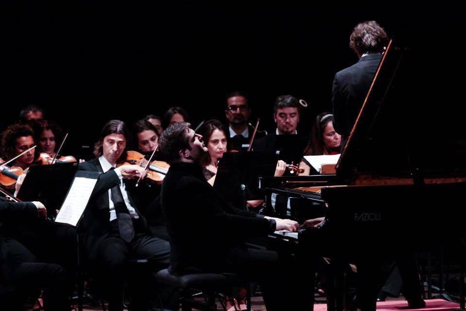 Rina Sala Gallo Finals, Monza. With Carlo Tenan and orchestra La Verdi