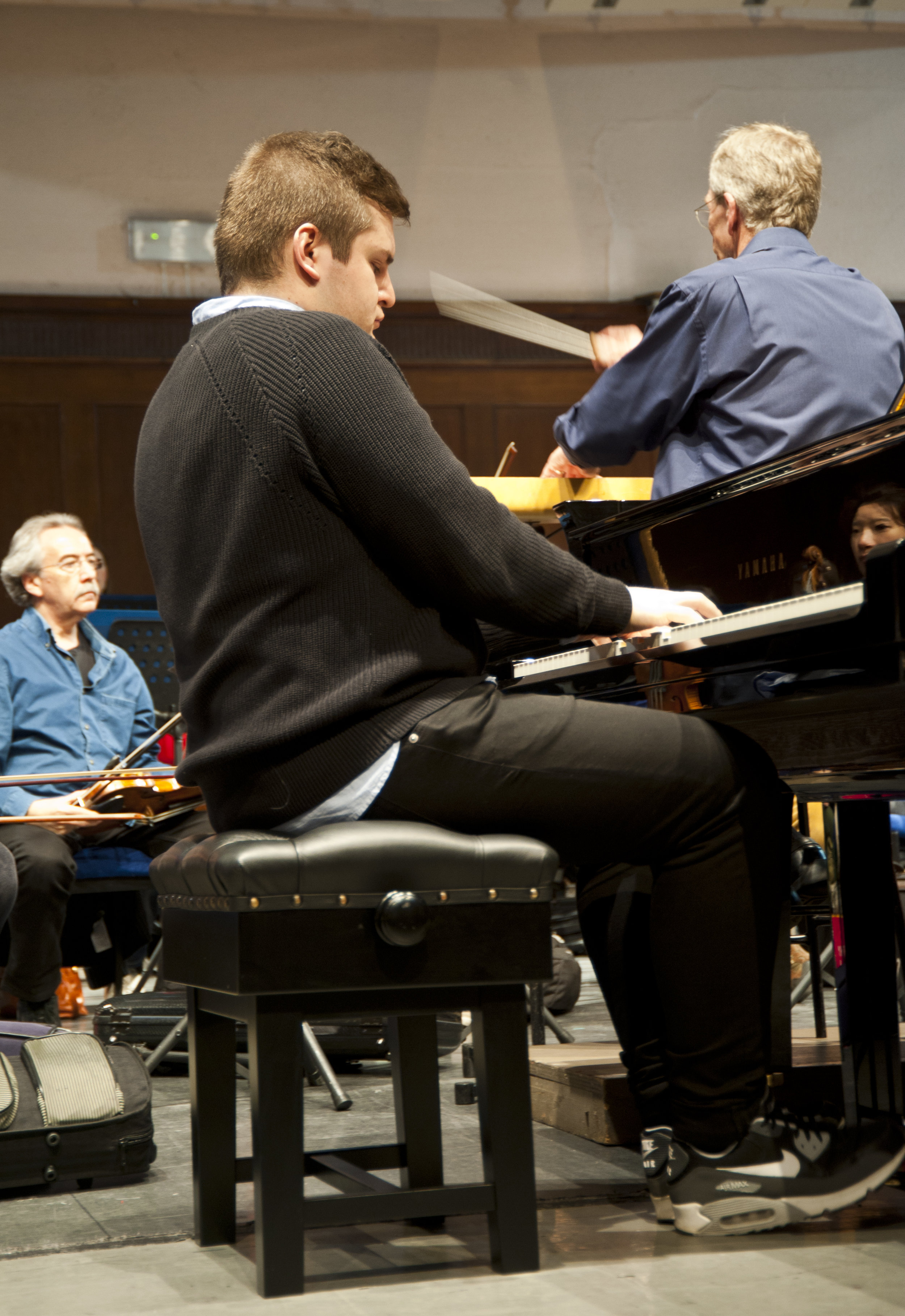 Rehearsal, with Royal Philharmonic Orchestra and Brian Wright