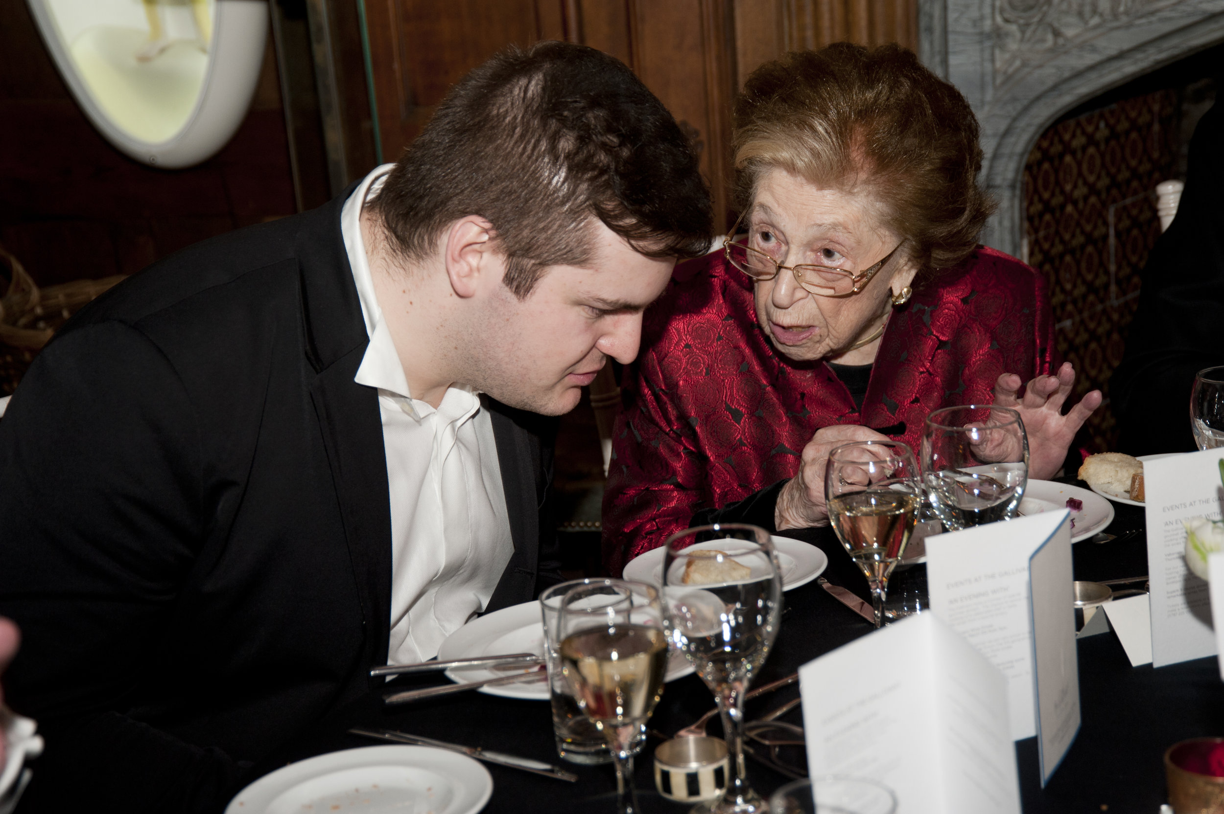 With Dame Fanny Waterman