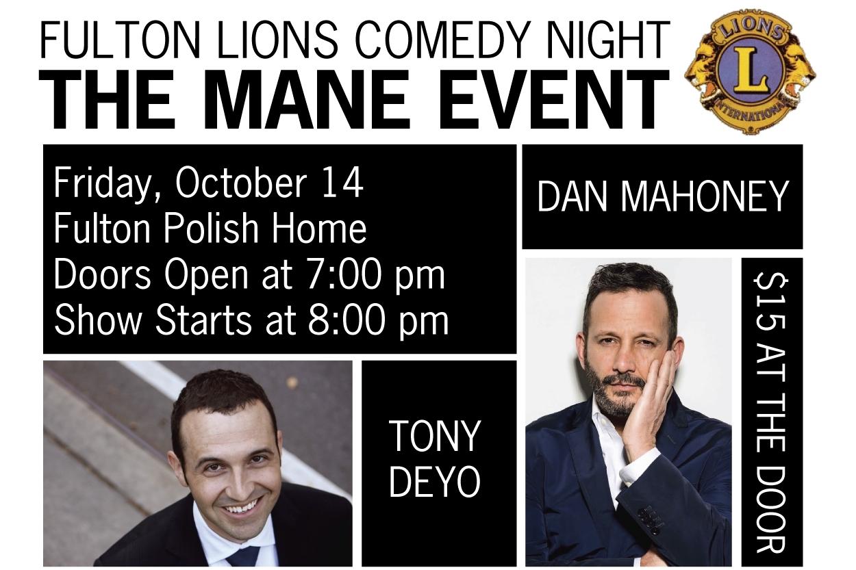 Main Event Comedy Night Fulton Lion's Club