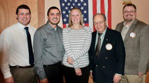 From left are: Mike Reardon, Alex Conn, Susan Duratt, Leo Chirello and Dave Guyer.