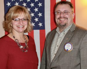 From left are: Rosie Taravella and Dave Guyer.