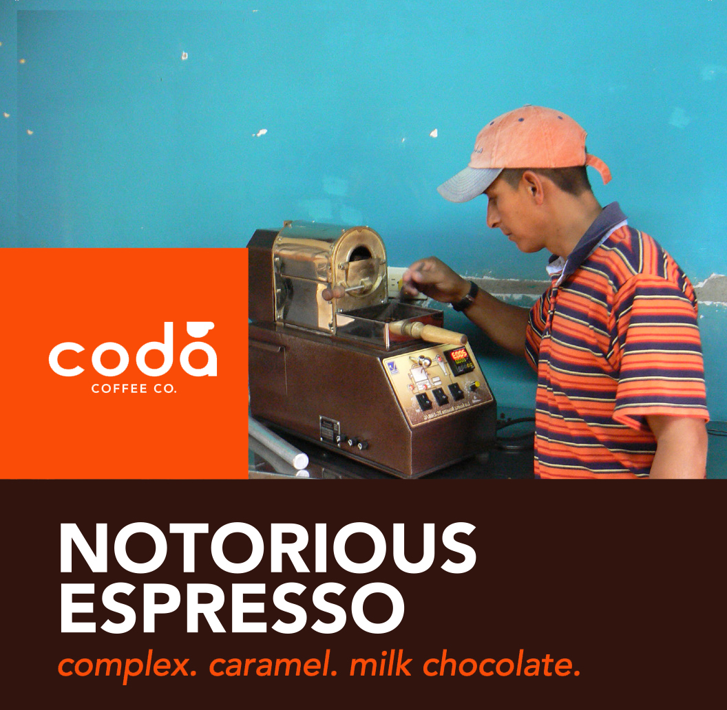Coda Coffee Company Notorious Espresso Coffee Blend