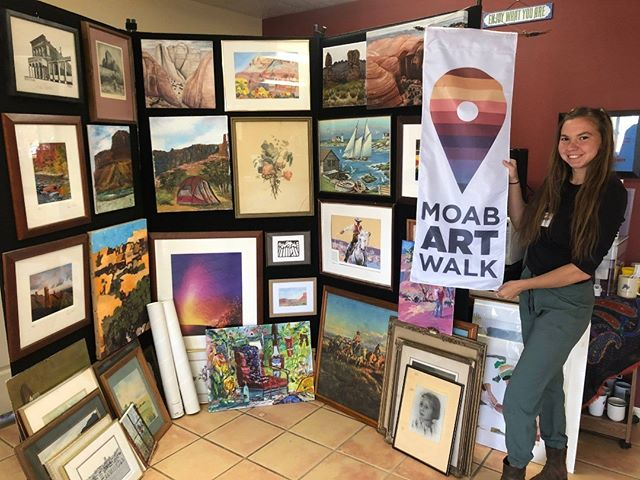Did you know that…  This Saturday is the first Moab Art Walk of the Year AND that WabiSabi is now an Art Walk Stop?!? We are so excited to be participating in Art Walk 2019! Come down this Saturday from 5 – 8 for displays from local artists, fun diy creations with the KZMU  spin art bike, food from the Moab Kitchen Food Truck, great instore sales, and more!! #moab #wabisabi #artwalk #thrifstore #art #party #thisweekend #saturday