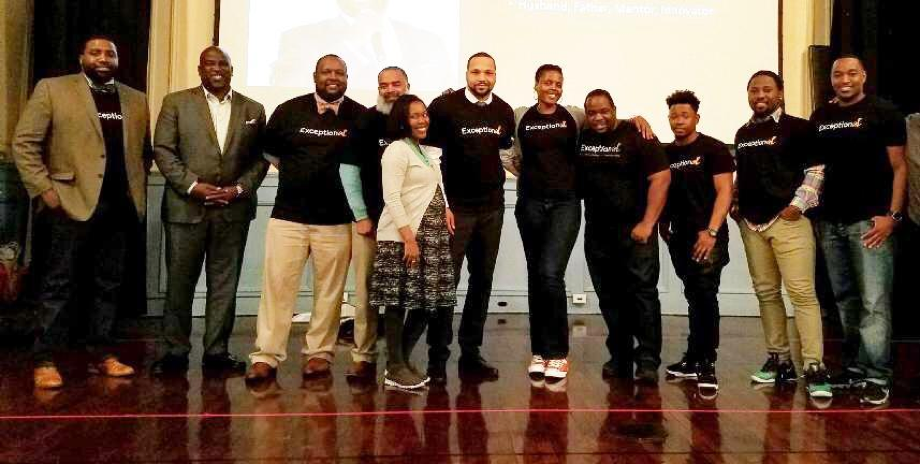 Men of The ExceptionAL Project after a Community Conversation in Newark, NJ