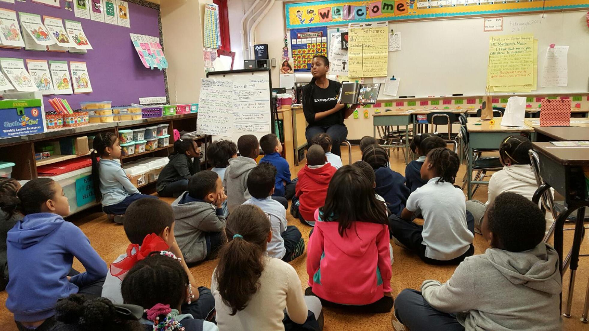 2nd Grade Classroom Presentation, Harlem, NY