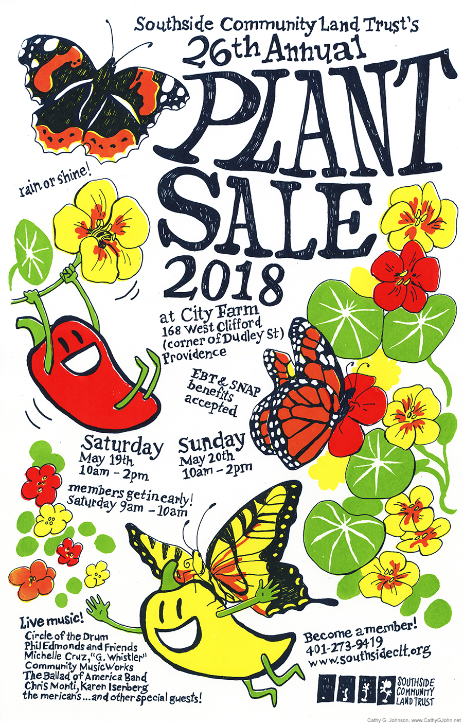 Plant Sale Poster / Southside Community Land Trust