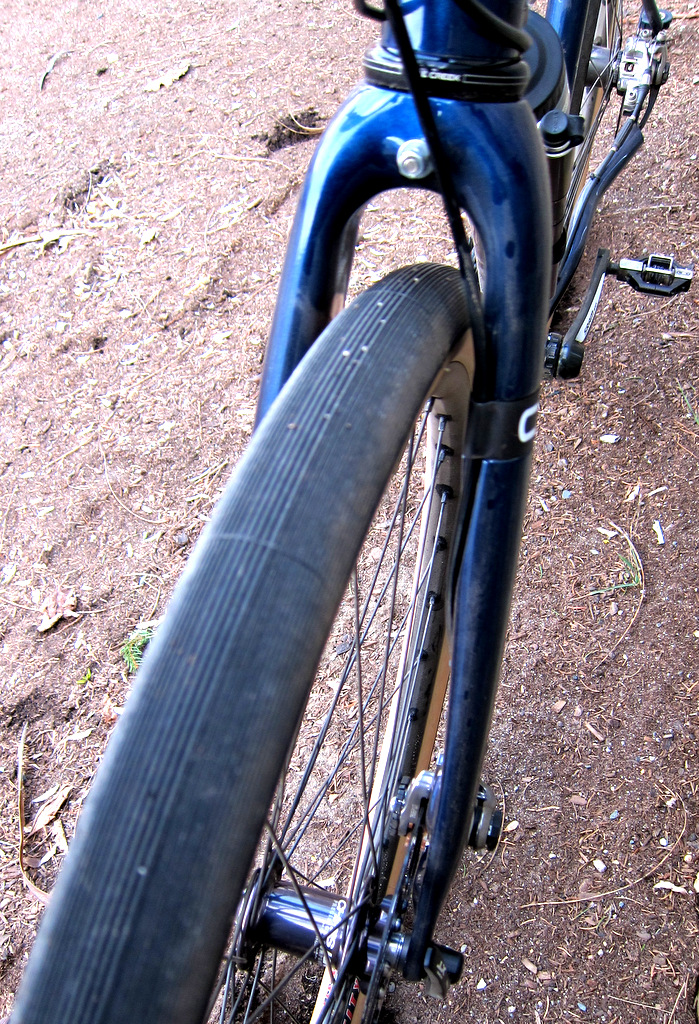 Honey Allroads - Disc fork and clearance for 45c 650b tires as shown