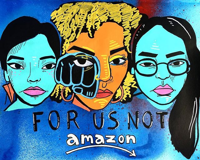 Join us and others this Saturday, February 23 at the Arlington County Board of Supervisors meeting at 8:20 am, 2100 Clarendon BLV, Arlington VA to voice opposition to Amazon's plans to move into Crystal City. Wear Red ✊🏾✊🏿✊🏼 #forusnotamazon