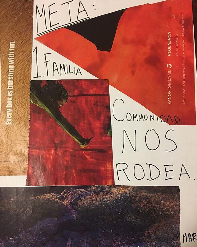 Making art with our community. ¿Como te sientes en tu comunidad aquí en los Estados Unidos? ¿Cuáles son sus sueños?