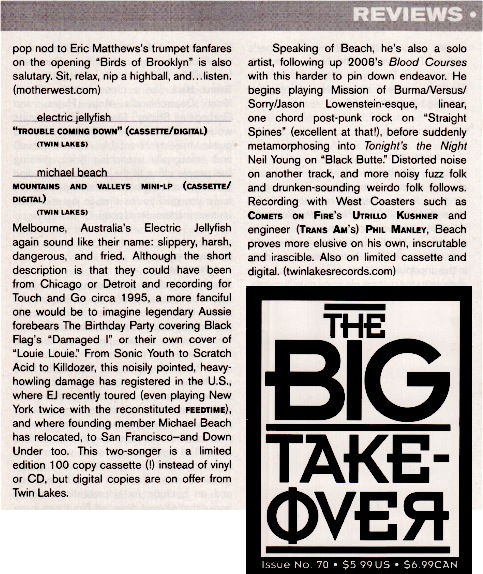 Review in The Big Takeover, June 2012