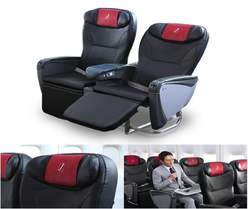 - In Sky Premium Economy Class, the seats slide has increased and you may think you are business class with so much space!