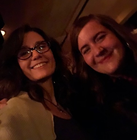 With Aidy at the wrap party :) It was very dark, so I had to lighten it up a bit <3