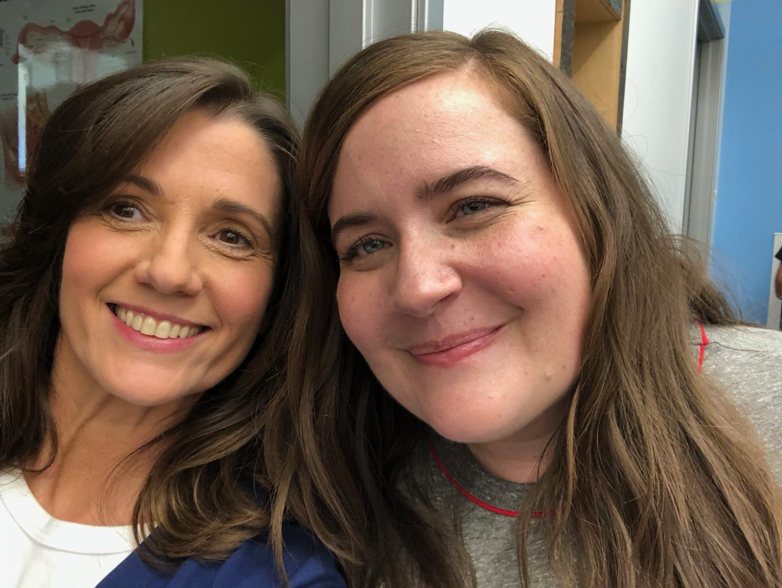On set after filming with Aidy Bryant.