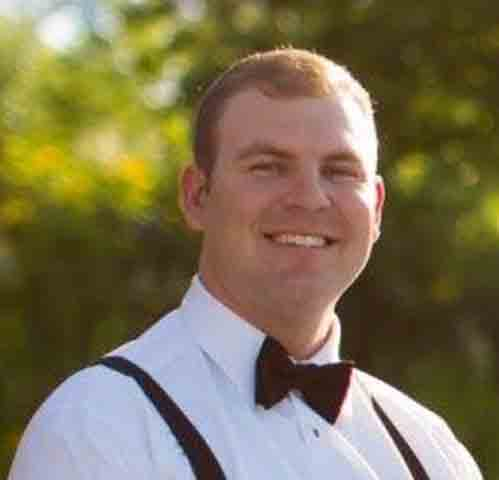 Slightly chubbier Co-founder, Tyler Bambrick in a tux.