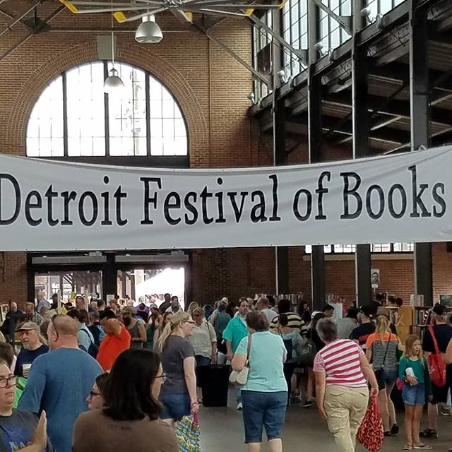 We're at Eastern Market for the Detroit Book Festival