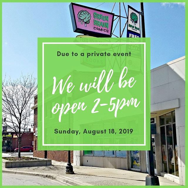 Tomorrow we will open at 2pm (NOT 12pm) and stay open until 5pm. . . . . #shoplcs #shoplocal #localcomicshop #shopsmallbusiness #shopsmall #eastborn