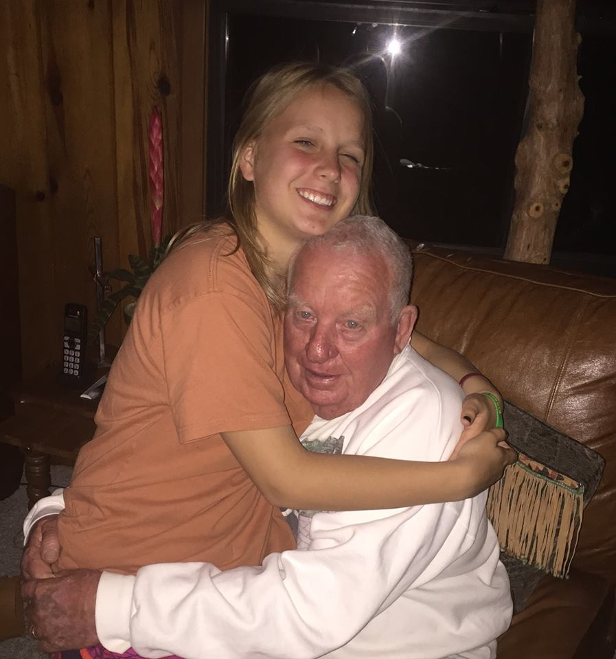 Charlia's daddy with Grace