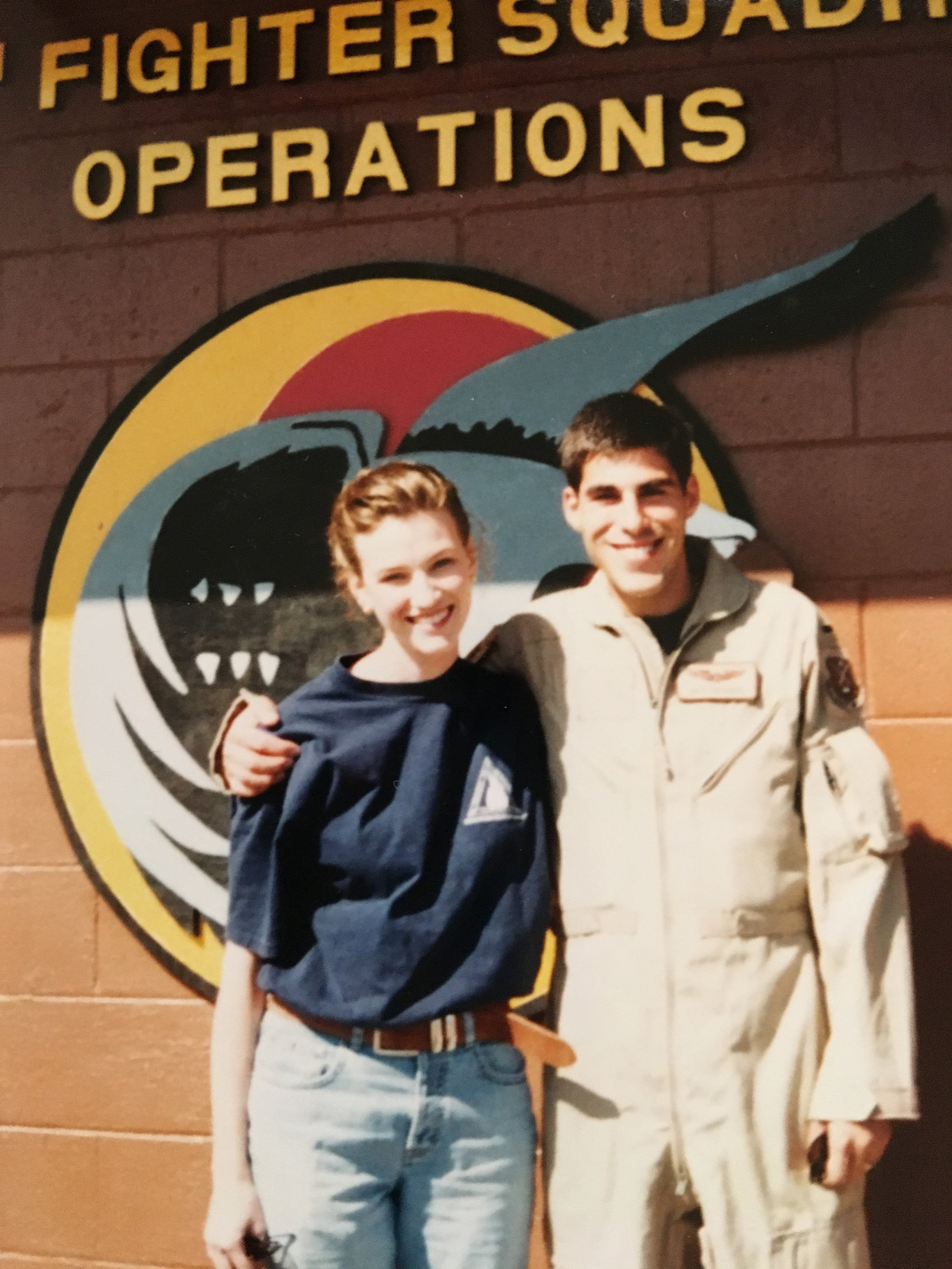 Missy and Dez when he was in the air force
