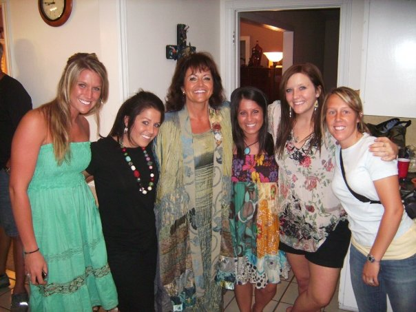 Mom with some of her nieces