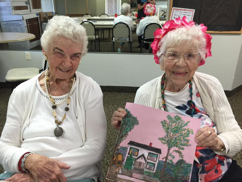 Samantha's art business with senior citizens