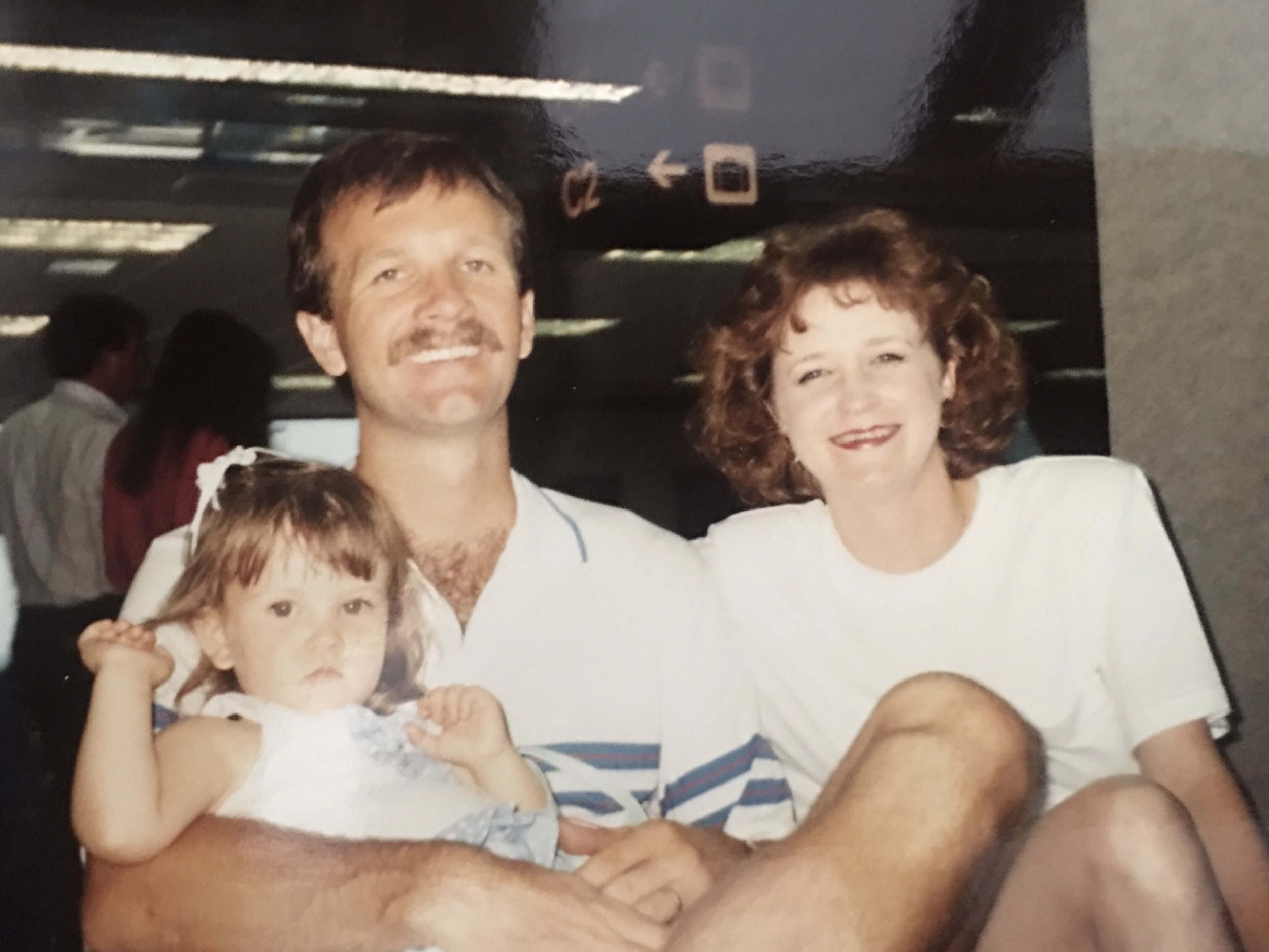 Baby Natalie with her parents