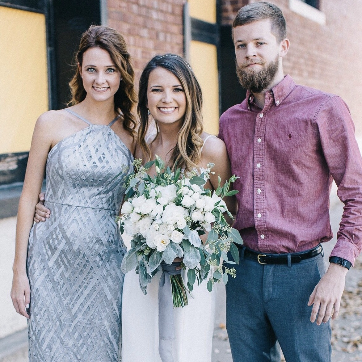 Natalie with her siblings on her wedding day