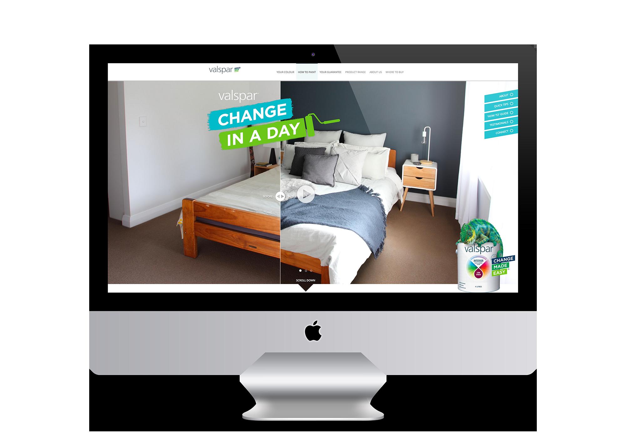 Click to visit Valspar Change In a Day Website
